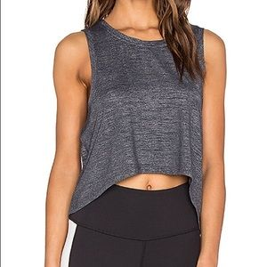 BEYOND YOGA HEATHER HIGH LOW TANK TOP